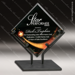 Acrylic Black Accented Acrylic Art Diamond Galaxy Trophy Award Star Acrylic Awards
