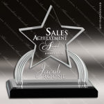 Acrylic Black Accented Carved Star Impress Trophy Award Trophy Award Star Acrylic Awards