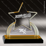 Acrylic Gold Accented Star Impress Reflection Trophy Award Star Acrylic Awards