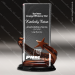 Acrylic Metal Accented Resin Star Black Rectangle Trophy Award Star Acrylic Awards