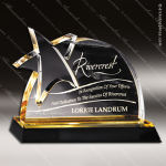 Acrylic Gold Accented Star Accent Trophy Award Star Acrylic Awards
