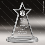 Acrylic  Clear Corporate Star Tower Trophy Award Star Acrylic Awards