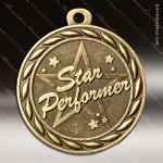 Medallion Sculpted Series Star Performer Medal Star Medals