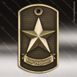 Medallion Dog Tag 3-D Series Star Performer Medal Star Medals
