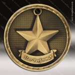 Medallion 3D Series Star Performer Medal Star Medals