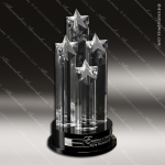 Crystal Black Accented Constellation Trophy Award Star Shaped Crystal Awards