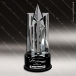 Crystal Black Accented Starburst Tower Trophy Award Star Shaped Crystal Awards
