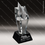Crystal Black Accented Starglow Burst Trophy Award Star Shaped Crystal Awards