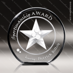 Crystal  Afterglow Star Circle Trophy Award Star Shaped Crystal Awards