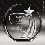 Crystal  Azure Shooting Star Circle Trophy Award Star Shaped Crystal Awards