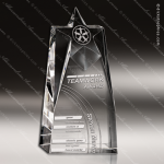 Crystal  Clear Nova Star Tower Trophy Award Star Shaped Crystal Awards