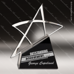 Crystal Black Accented Outline Star Trophy Award Star Shaped Crystal Awards