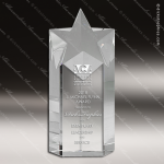 Crystal  Star Rising Trophy Award Star Shaped Crystal Awards