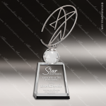 Crystal  Star Oval Trophy Award Star Shaped Crystal Awards