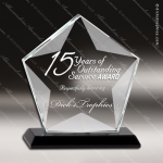 Crystal Black Accented Faceted Star Trophy Award Star Shaped Crystal Awards