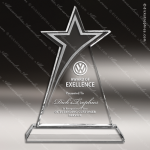 Crystal  Sleek Star Trophy Award Star Shaped Crystal Awards