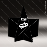 Crystal Black Accented Obsidian Star Paperweight Trophy Award Star Shaped Crystal Awards