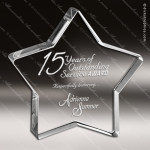 Crystal  Clear Mystical Star Paperweight Trophy Award Star Shaped Crystal Awards