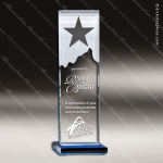 Tangelo Constellation Glass Blue Accented Star Tower Trophy Award Star Shaped Crystal Awards