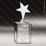 Crystal Silver Accented Chrome Star Trophy Award Star Shaped Crystal Awards
