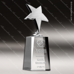 Crystal Silver Accented Shooting Star Trophy Award Star Shaped Crystal Awards