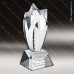 Crystal  Clear Rising Star Trophy Award Star Shaped Crystal Awards