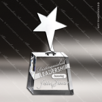 Crystal Silver Accented Arduous Chrome Star Trophy Award Star Shaped Crystal Awards