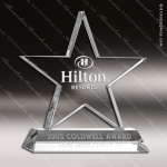 Crystal  Clear Motivation Star Trophy Award Star Shaped Crystal Awards