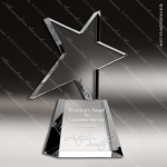 Crystal  Clear Meteor Star Trophy Award Star Shaped Crystal Awards