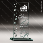 Luna Jade Glass Accented Scattered Stars Rectangle Trophy Award Star Shaped Glass Awards