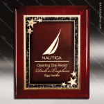 Engraved Rosewood Plaque Piano Finish Starburst Wall Placard Award Star Themed Plaques
