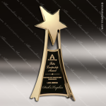 Cast Gold Accented Star Tower Free Standing Trophy Award Star Themed Trophy Awards