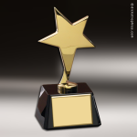 Gold Star On Black Base Star Themed Trophy Awards