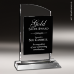 Crystal Black Accented Spyglass Trophy Award Star Trophy Awards