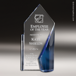 Crystal Blue Accented Seaward Trophy Award Star Trophy Awards