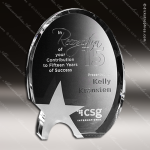 Crystal Clear Oval Star Crystal Trophy Award Star Trophy Awards