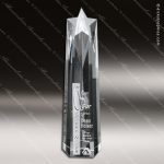 Crystal Clear Polaris Star Tower Trophy Award Star Trophy Awards