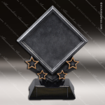 Premium Resin Silver Victory Star Diamond Trophy Award Star Trophy Awards