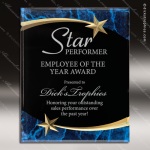 Engraved Acrylic Plaque Blue Marble Shooting Star Wall Placard Award Star Trophy Awards