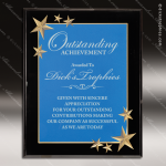 Engraved Acrylic Plaque Blue Star Recognition Wall Placard Award Star Trophy Awards