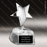 Crystal  Silver Star Trophy Award Star Trophy Awards