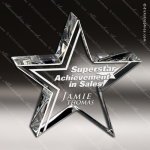 Crystal  Clear Halo Star Paperweight Trophy Award Star Trophy Awards