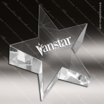 Crystal  Clear Star Paper Weight Trophy Award Star Trophy Awards