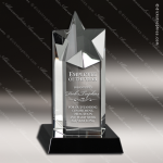 Crystal Black Accented Star Tower Trophy Award Star Trophy Awards