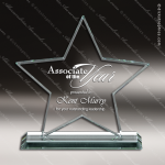 Pachello Star Glass Jade Accented Trophy Award Star Trophy Awards