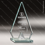 Glass Silver Accented Arrowhead Aiguille Trophy Award Starphire Accented Glass Awards