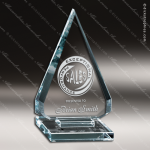 Glass Jade Accented Arrowhead Jubilation Trophy Award Starphire Accented Glass Awards