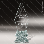 Glass Jade Accented Arrowhead Pinnacle Trophy Award Starphire Accented Glass Awards