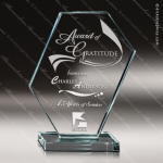 Glass Jade Accented Octagon Concerto Trophy Award Starphire Accented Glass Awards