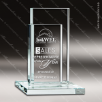 Glass Jade Accented Rectangle Dual Tribute Trophy Award Starphire Accented Glass Awards